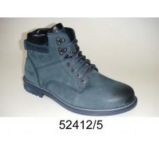 Men's blue-gray nubuck boots, model 52412-5