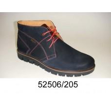 Men's dark blue nubuck boots, model 52506-205