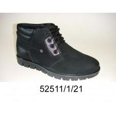 Men's black nubuck boots, model 52511-1-21