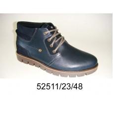 Men's blue leather boots, model 52511-23-48