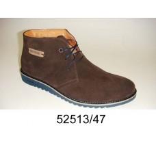 Men's brown suede boots, model 52513-47