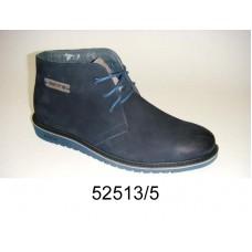 Men's blue nubuck boots, model 52513-5
