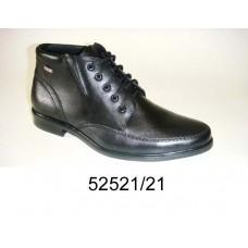 Men's black leather boots, model 52521-21