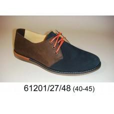 Men's bicolor leather shoes, model 61201-27-48