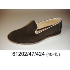Men's brown suede shoes, model 61202-47-424