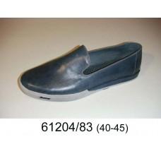 Men's blue-grey leather shoes, model 61204-83