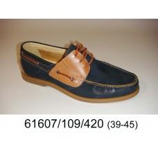 Men's blue brown leather top-sider, model 61607-109-420