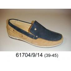 Men's nubuck moccasins, model 61704-9-14