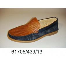 Men's leather moccasins, model 61705-439-13