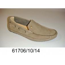 Men's desert leather moccasins, model 61706-10-14