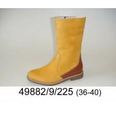 Women's yellow boots, model 49882-9-225