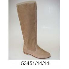 Women's desert leather knee high boots, model 53451-14-14