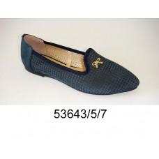 Women's blue suede shoes, model 53643-5-7