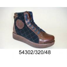 Women's leather platform boots, model 54302-320-48
