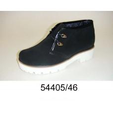 Women's black suede boots, model 54405-46