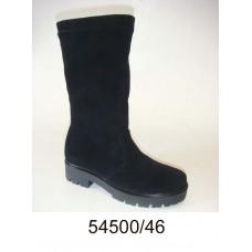 Women's black suede high boots, model 54500-46