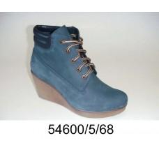 Women's blue-gray platform sneakers boots, model 54600-5-68