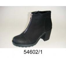 Women's black suede boots, model 54602-1