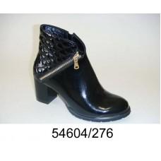 Women's black patent leather stylish  boots, model 54604-276