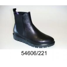 Women's black leather chelsea boots, model 54606-221