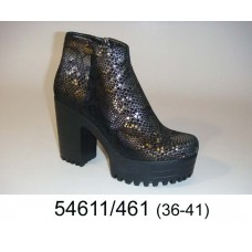 Women's leather platform boots, model 54611-461