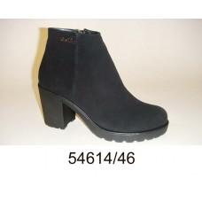 Women's black suede mid season boots, model 54614-46