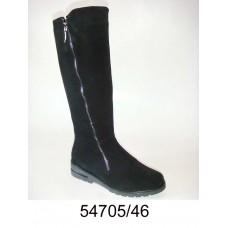 Women's black sued warm boots, model 54705-46