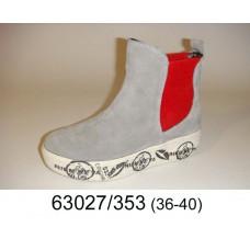 Women's gray suede boots, model 63027-353