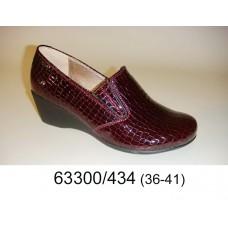 Women's wine alligator print leather shoes, model 63300-434