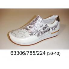 Women's leather slip-on shoes, model 63306-785-224
