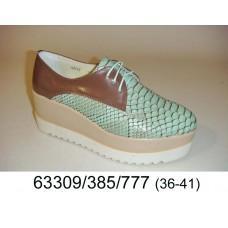 Women's crocodile print leather shoes, model 63309-385-777