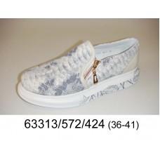 Women's python print leather slip-on, model 63313-572-424