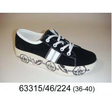 Women's black suede sneakers, model 63315-46-224