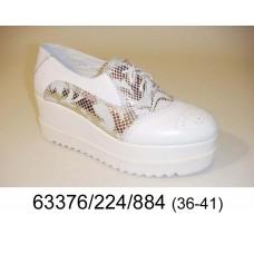 Women's leather platform shoes, model 63376-224-884