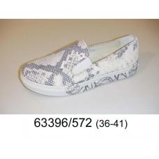 Women's leather slip-on, model 63396-572