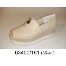 Women's desert leather open toe platform shoes, model 63400-161