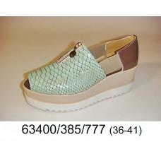 Women's green light platform shoes, model 63400-385-777