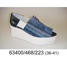 Women's python print leather shoes, model 63400-468-223
