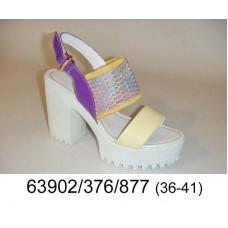 Women's leather sligbacks shoes, model 63902-376-877