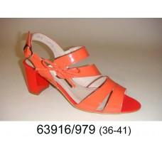 Women's orange leather fashion shoes, model 63916-979