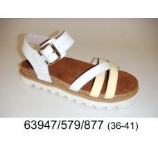 Women's leather sandals, model 63947-579-877