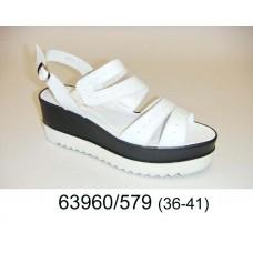 Women's white platform shoes, model 63960-579